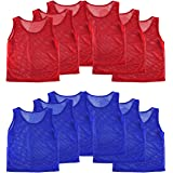 Nylon Mesh Scrimmage Team Practice Vests Pinnies Jerseys for Children Youth Sports Basketball Soccer Football Volleyball (12