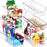 Set of 6 Refrigerator Pantry Organizers-Includes 6 Organizers (5 Drawers & 1 Egg Holding Tray)-Stackable Organizers for Freez