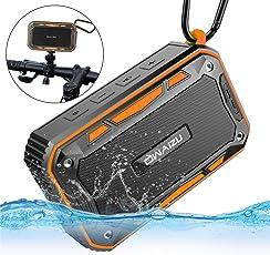 OWAIZU Bluetooth スピーカー IP67防水 防塵 高音質 自転車ホルダー付き 強化された低音 ブルートゥース ワイヤレスステレオ スピーカー 防水 耐衝撃 ハンズフリー通話対応 8時間持続 日本語取扱説明書付き 防水すぴーかー