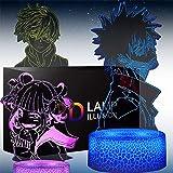 Himiko Toga My Hero Academia Figure 3D LED Night Light for Boys Girls Kids, Anime 3D Illusion Lamp Smart Control Multicolors