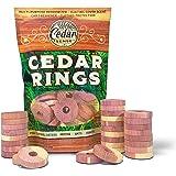 Cedar Sense Cedar Rings - 30 Pack - Cedar - Cedar Moth - Cedar Blocks for Clothes Storage - Moth - Closet Freshener - Cedar f