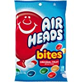 AirHeads Bites Candy Peg Bag, Fruit, Non Melting, 6 Ounce (Pack of 12)