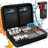 Keenstone Battery Organizer Storage Case, Fireproof Waterproof Explosionproof Battery Hard Holder Box, Holds 139 Batteries AA