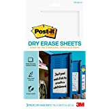 Post-it Dry Erase Sheets, 7 in x 11.3 in, Sticks Securely and Removes Cleanly (DEFSHEETS-3PK)