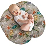 Boppy Newborn Lounger—Original Lightweight Plush Chair with Carrying Handle Infant Seat for Awake Time Wipeable and Machine W