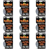 T-REX Duct Tape, Case of 9 Rolls, 1 in. x 10 yd. for 90 Total Yards, Dark Gunmetal Gray (241330)