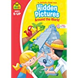School Zone - Hidden Pictures Around the World Workbook - Ages 5 and Up, Hidden Objects, Hidden Picture Puzzles, Geography, G