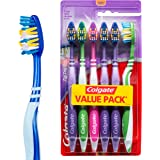 Colgate ZigZag V Shape Deep Interdental Clean Toothbrush Soft Value, 6 Pack