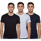 Emporio Armani Mens Cotton Crew Neck T-Shirt Cotton Crew Neck T-Shirt, 3-Pack Short Sleeves Undershirt