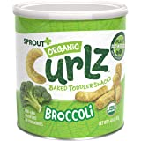 Sprout Organic Curlz Toddler Snacks, Broccoli, 1.48 Ounce Canister (Single)