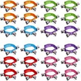 24PCS Band Wrist Bells Jingle Bells Instrument Percussion Musical Party Wrist Bells and Ankle Bells Birthday Gifts Favors Toy