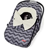 Skip Hop Stroll & Go Infant & Toddler Automotive Car Seat Cover Bunting Accessories, Universal Fit, Tonal Chevron, Black Chev