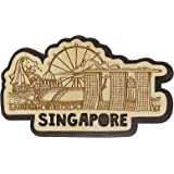 Printtoo Wooden Engraved Fridge Magnet Singapore Souvenir Collectibles Gift
