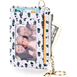 FEITH&FELLY Womens Small Wallet RFID Blocking Credit Card Holder with Keychain