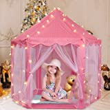 Princess Tent Girls Large Playhouse Kids Castle Play Tent with Star Lights Toy for Children or Toddlers Indoor and Outdoor Ga