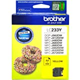 Brother Genuine LC233Y Ink Cartridge, Yellow, Page Yield Up to 550 Pages, (LC-233Y)