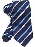 [ダブリューアンドエム] メンズ ネクタイ フォーマル ビジネス オフィス 8cm 幅 レギュラータイ 洗濯 可能 レジメンタル ストライプ 縞 模様 柄 クラシック