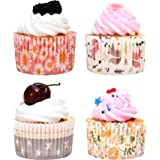 OJelay Cupcake Liners 100pcs Greaseproof Baking Cupcake Wrapper Parchment Bulk Muffin Liner, Spring