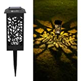 OxyLED Solar Path Lights Outdoor, 8 Pack LED Garden Pathway Lights Solar Powered, Decorative Landscape Lighting Security Ligh