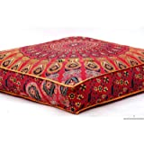 Indian Daybed Big Seating Peacock Mandala Floor Pillow Cover Pouf Cushion Case Bohemian Ottoman Meditation Throw Large 3535""