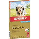 Advantix Flea and Ticks Control for Medium Dogs, Aqua, 6 Pack