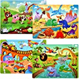 Puzzles for Kids Ages 4-8 Year Old 60 Piece Colorful Wooden Puzzles for Toddler Children Learning Educational Puzzles Toys fo