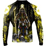 Raven Fightwear Men's The Gods of Egypt Ra Rash Guard MMA BJJ Black