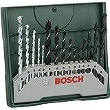 Bosch 15-Piece Mini-X-Line Mixed Drill Bit Set: Metal/Masonry/Wood