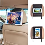 TFY Universal Smartphone & Tablet Car Headrest Mount Holder - iPhone X / 8/8 Plus / 6 / 6S (Plus) - 7/7 Plus & iPad Mini 4 -