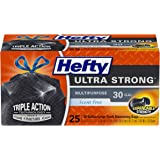 Hefty Ultra Strong Large 30 Gallon Trash Bags - Multipurpose - Drawstring - 25 Count