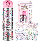 YOFUN Decorate Your Own Water Bottle with 11 Sheets of Unicorn Stickers & Glitter Gems, Craft Kit & Art Kit for Children, Gif