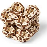 UGEARS Flexi-Cubus Brainteaser 3D Mechanical Model Wooden Puzzle - Ideal Adults and Teens