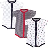 Hudson Baby Boys' Unisex Baby Cotton Rompers