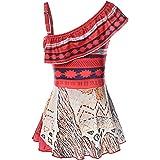 JerrisApparel Girl Moana Swimming Suit One Piece Swimwear Beach Dress Bath Suit