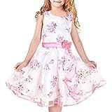 Sunny Fashion Girls Dress Blue Rose Wedding Pageant Kids Size 4-12 Years