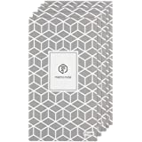 5-Pack of N Memo Notebooks with 50 Ruled Pages, 148mm x 83mm (Geometric Patterns)