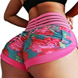 CFR Women's Sports Shorts Scrunch Butt High Waist Yoga Gym Running Pants Casual Short Leggings