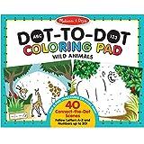 Melissa & Doug 9104 ABC 123 Wild Animals Dot-to-Dot Coloring Pad