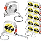 10 Pieces Tape Measure Keychains Functional Mini Retractable Measuring Tape Keychains with Slide Lock for Birthday Party Favo