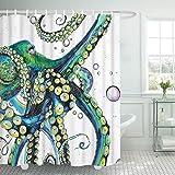 Bathroom Shower Curtain Colorful Fashion Octopus Shower Curtains Durable Fabric Bath Curtain Mildew Resistant Waterproof Bath