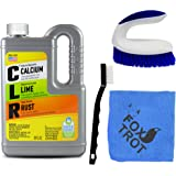 CLR Complete Cleaning Kit, Calcium Lime and Rust Removal System Includes 28oz CLR Bottle, 1 Handheld Heavy Duty Brush, 1 EZ G