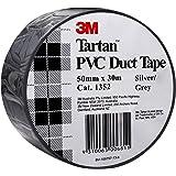 3M AT010575259 Tartan PVC Duct Tape Silver Grey 50mm x 30m