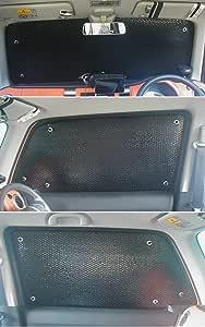 車種別サンシェード スズキ ハスラー MR31S MR41S対応 フロント フロントサイドの計3面 1セット 日よけ 車中泊 車内泊 キャンプ