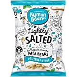 Human Bean - Faba Beans (Fava Beans) - Lightly Salted - 12 x 20g - Vegan Friendly, Nut Free, Dairy Free & Gluten free Snacks