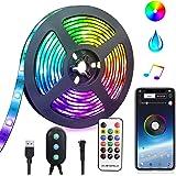 LED Strip Lights USB powered LED Lights Strip Phone App Controlled RGB LED Lights Chase Effect Music LED Strip Rope Lights Wa