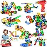 Jasonwell STEM Toys Building Blocks - 166+PCS Educational Construction Set Creative Engineering Toys Building Toys Kit Stem A
