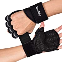 FREETOO トレーニンググローブ ウェイトリフティング ドット状滑り止め 高弾性パッド 通気性 手首保護 フィット感…