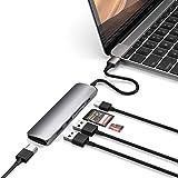 Satechi V2 スリム マルチ USBハブ Type-C 4K HDMI, カードリーダー, USBポート3.0x2(MacBook Pro 2016以降, MacBook Air 2018以降, iPad Pro など対応)(スペースグレイ)