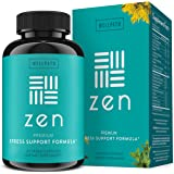 Zen Anxiety and Stress Relief Supplement - Natural Herbal Formula Supporting Calm, Positive Mood with Ashwagandha, L-Theanine