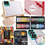 MEEDEN 72-Piece Acrylic Painting Set with Beech Wood Table Easel, 48×22ML Acrylic Paint Set and All The Additional Supplies,